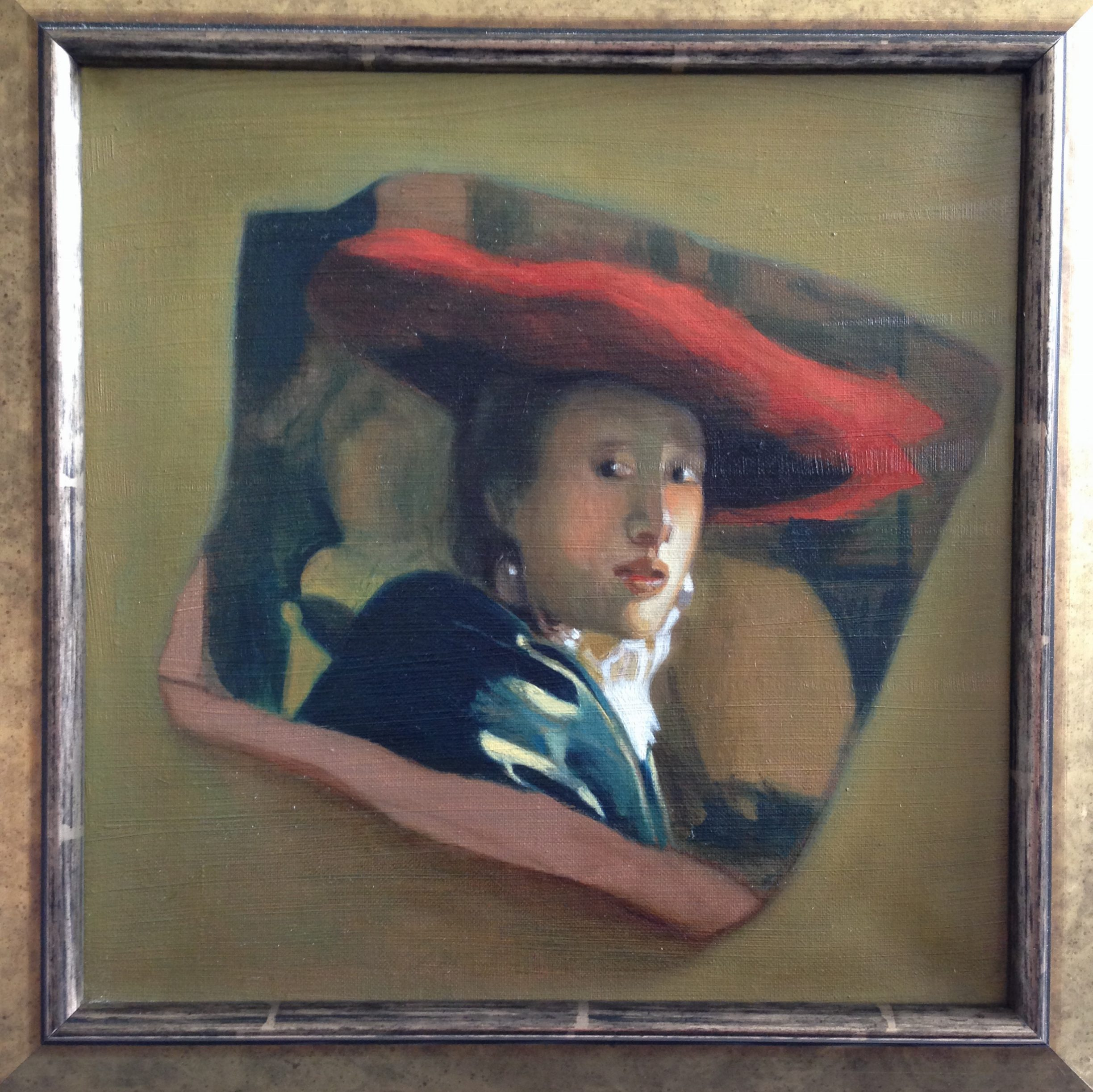 Victoria king, 'Girl with a Red Hat' – after Jan Vermeer