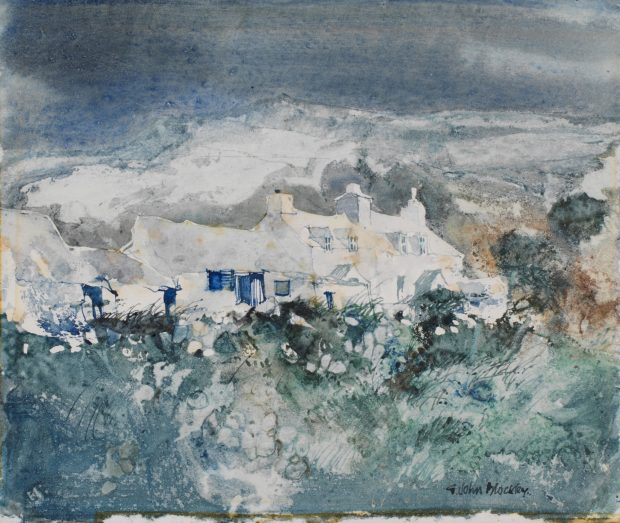 Pembrokeshire Cottages John Blockley Watercolour, c.1988