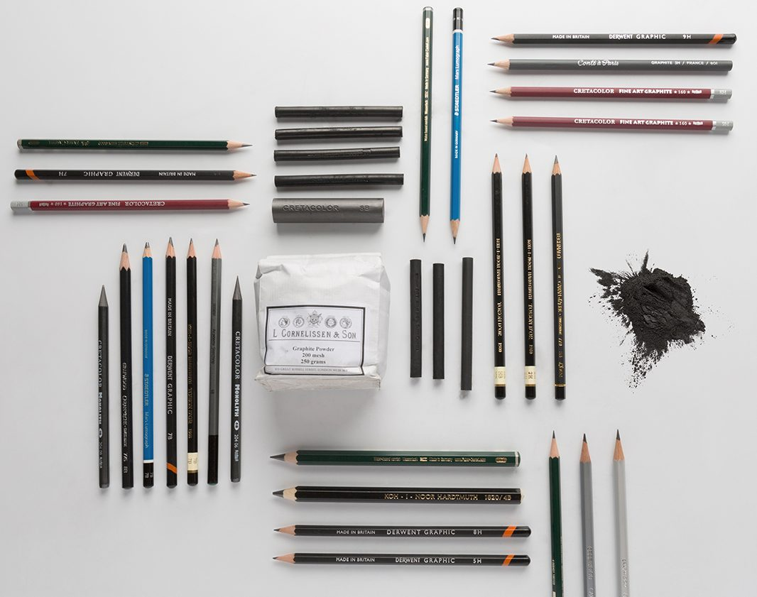 A combination of various graphite products available from Jackson's, difference between graphite and charcoal