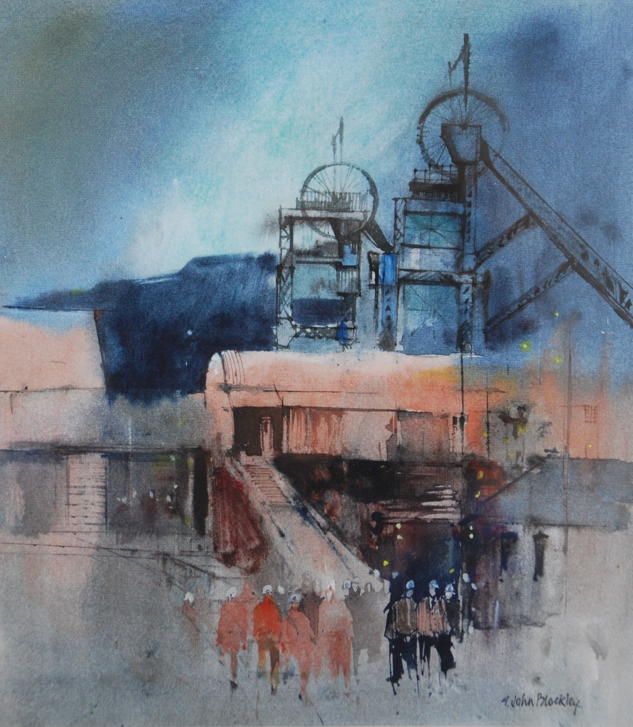Marine Colliery 1, South Wales G. John Blockley Watercolour, c1987