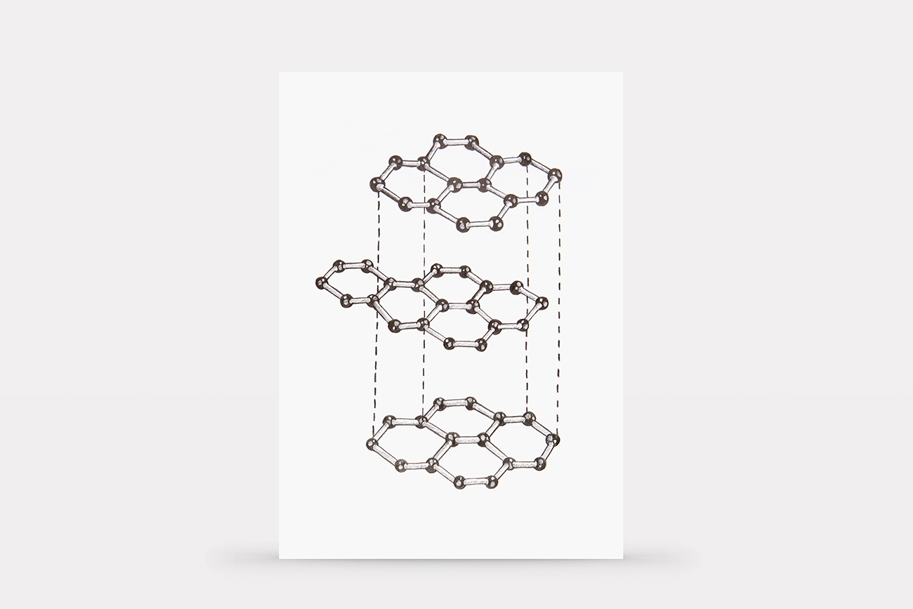 Graphite's molecular structure made using graphite pencils, difference between graphite and charcoal