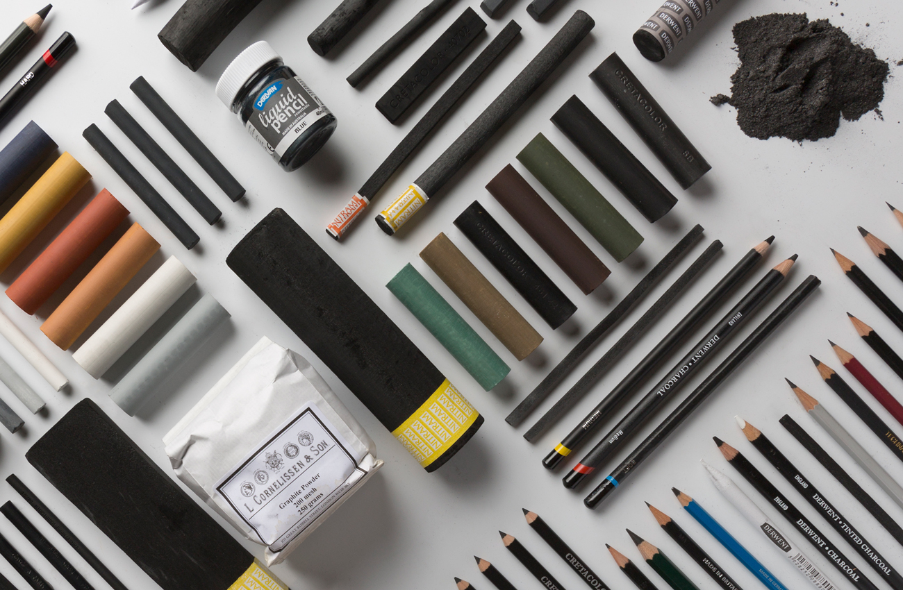 Collection of charcoal and graphite items available at Jackson's