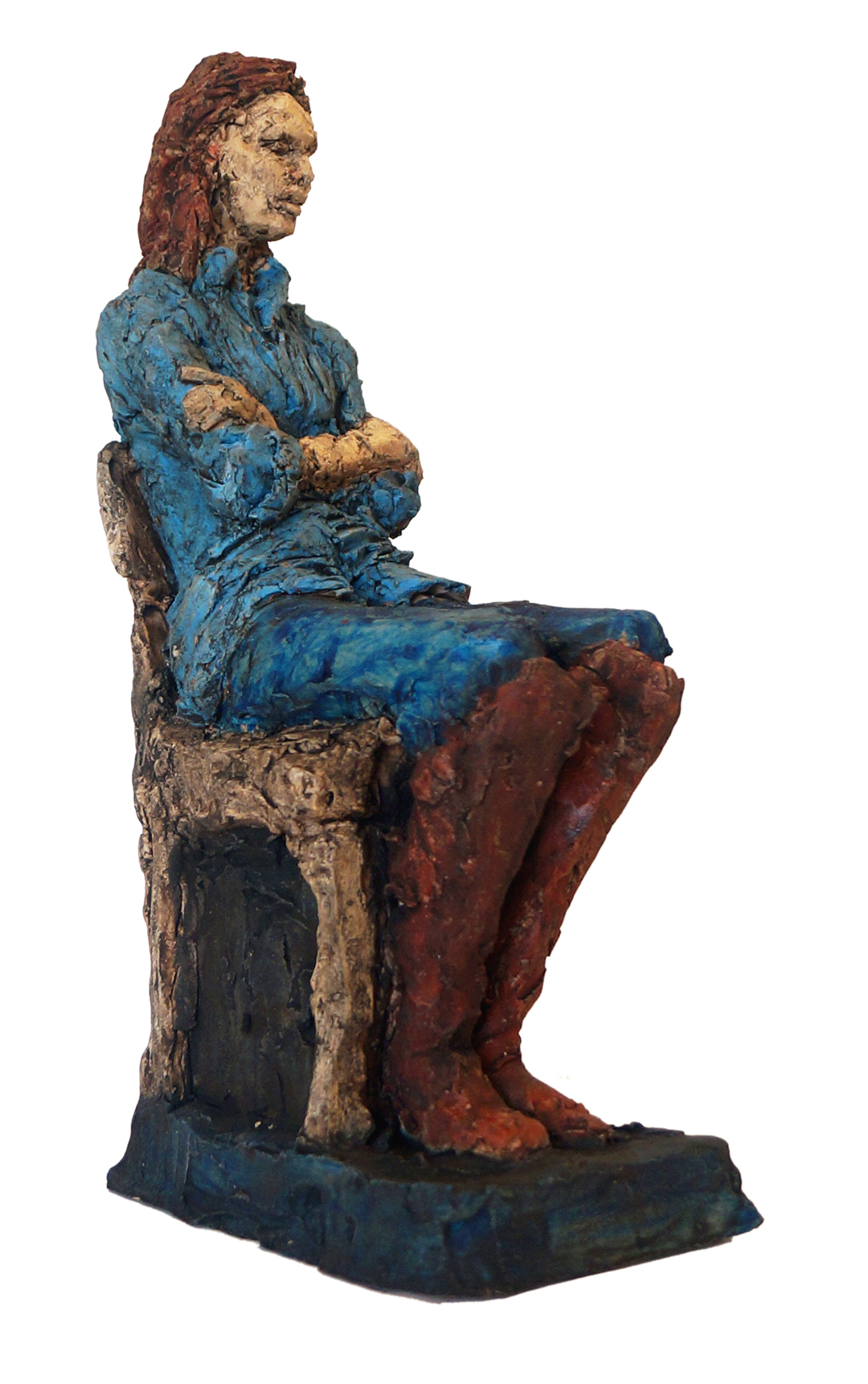1-day figure sketch of Tanja Jess Miller Fired clay sculpture, 31 cm x 10 cm x 16 cm, 2018