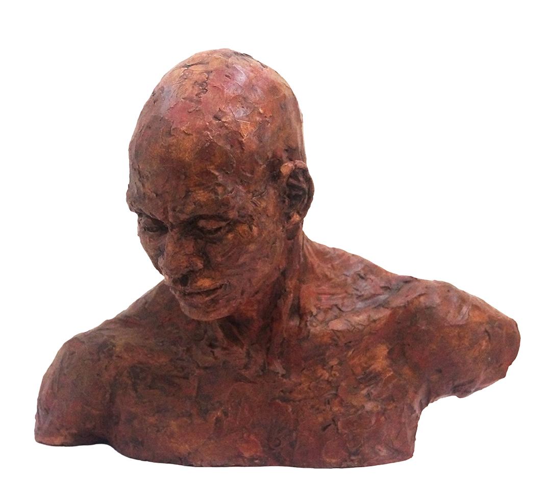 Portrait of Robert Jess Miller Fired clay sculpture, 27 cm x 33 cm x 25 cm, 2018