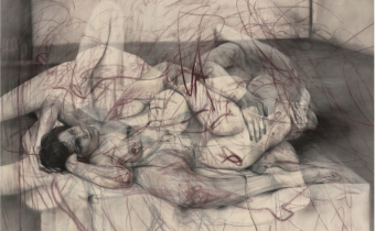 One out of two (symposium), 2016 Charcoal and pastel on canvas, 152 x 225 x 3.2 cm © Jenny Saville. Courtesy of the artist and Gagosian. Photo: Mike Bruce, art exhibitions on in September