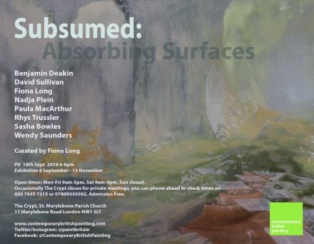 Subsumed Press Release Exhibition showing at The Crypt, Marylebone