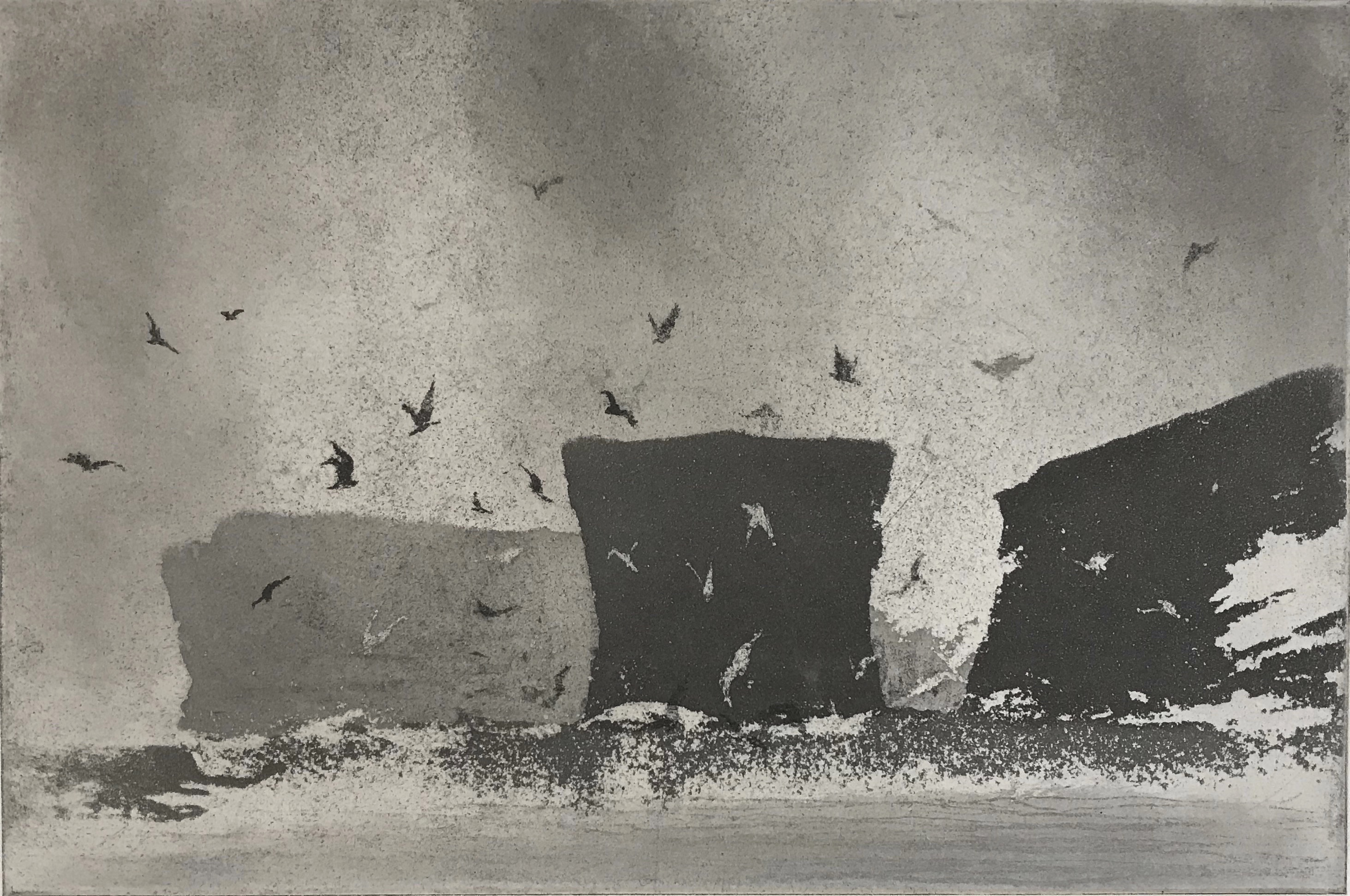 The Anvil Norman Ackroyd Etching, signed dated and titled in pencil. Numbered from the edition of 90. From the box set 'Fragments', 2017