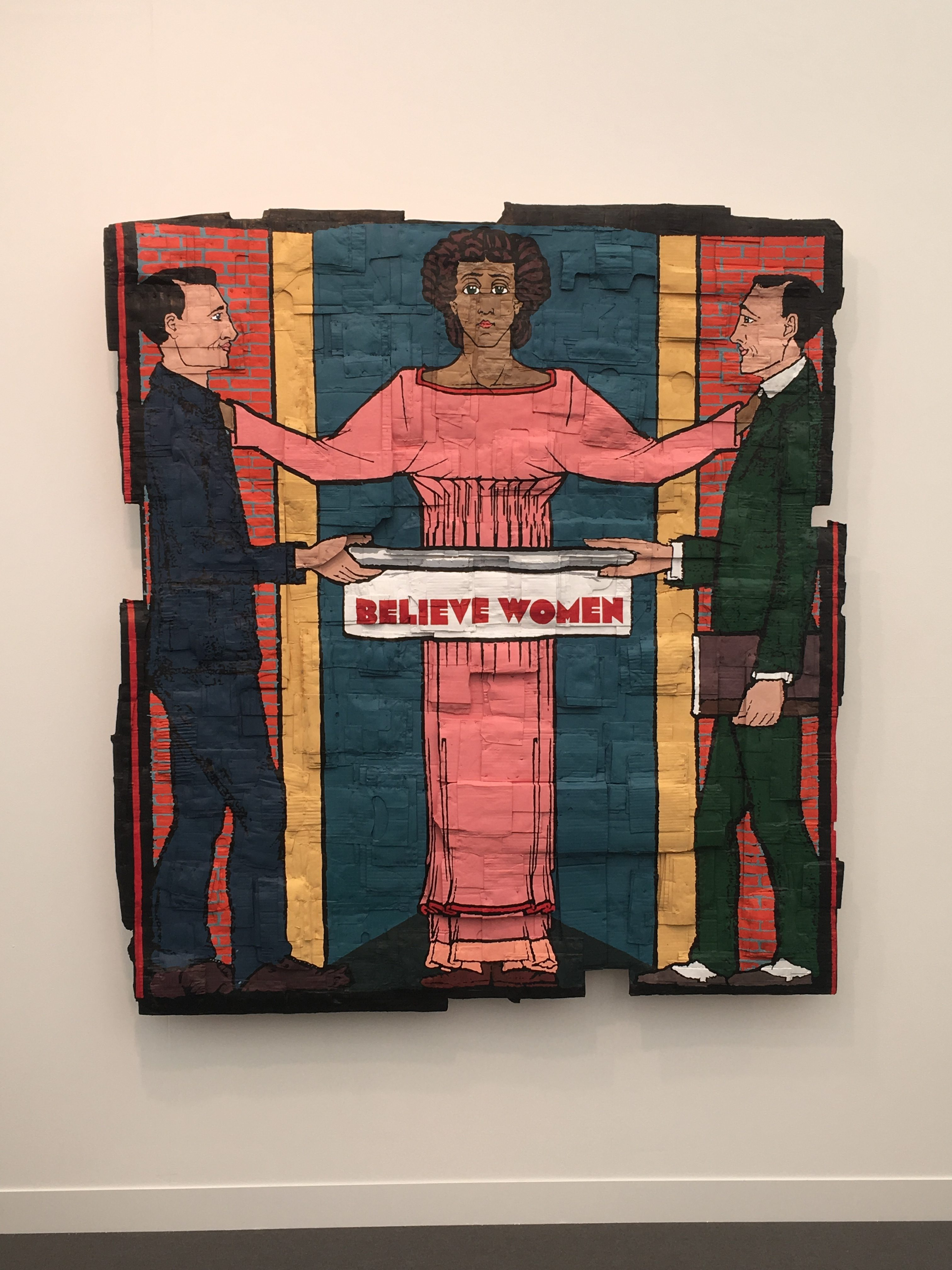 Andrea Bowers, Believe Women, 2018, acrylic marker on cardboard