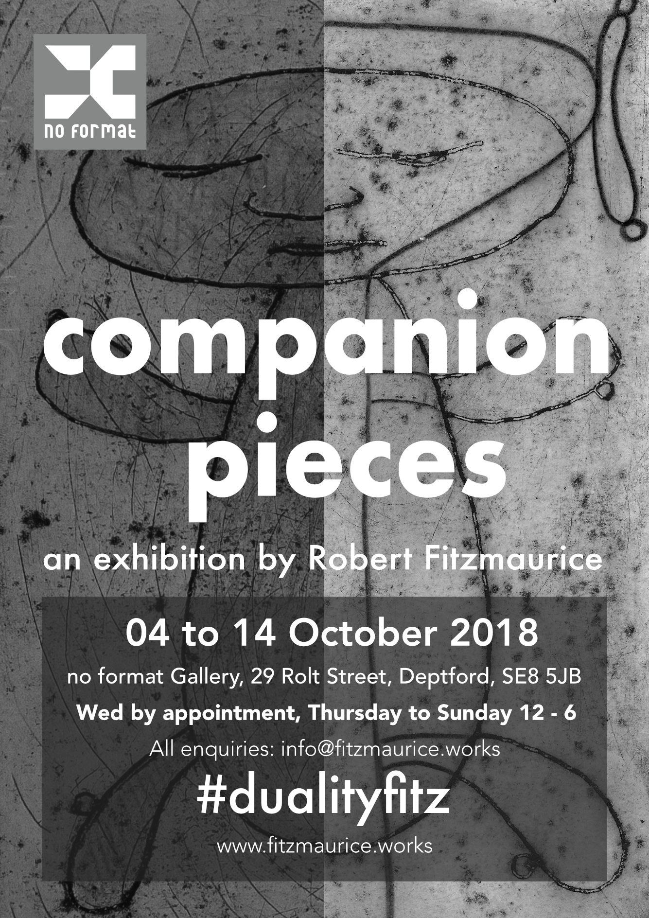 Companion Pieces Press Release, art exhibitions on in October