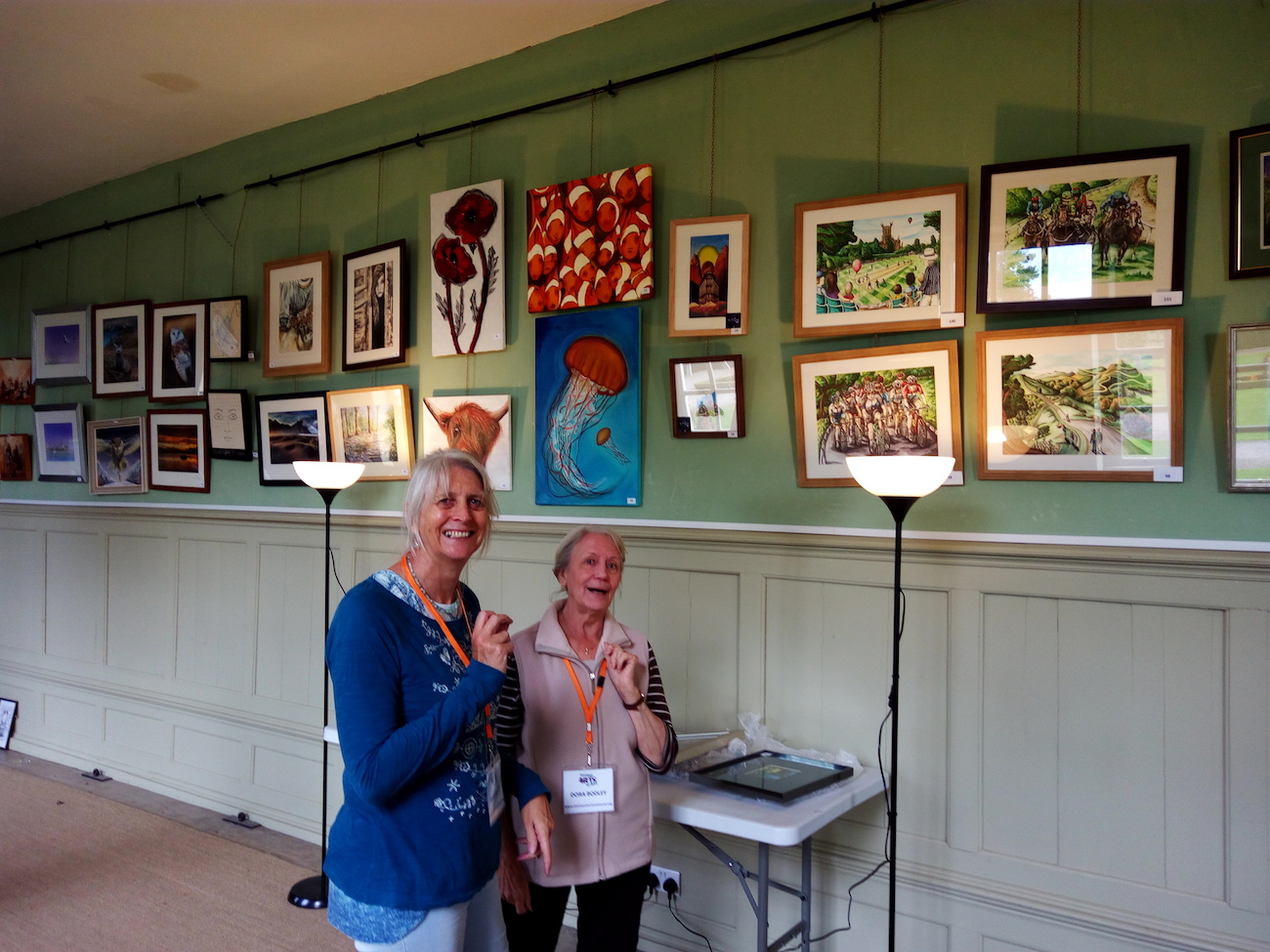 DAN members Julia Rollit and Dora Bodley stewarding at the last year's exhibition