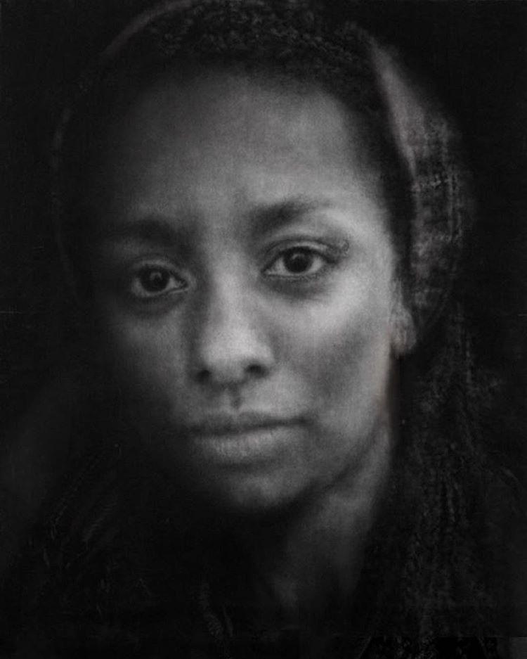 'Eden, The Jungle Calais' Caroline Burraway Charcoal, 150cm x 125cm, 2017