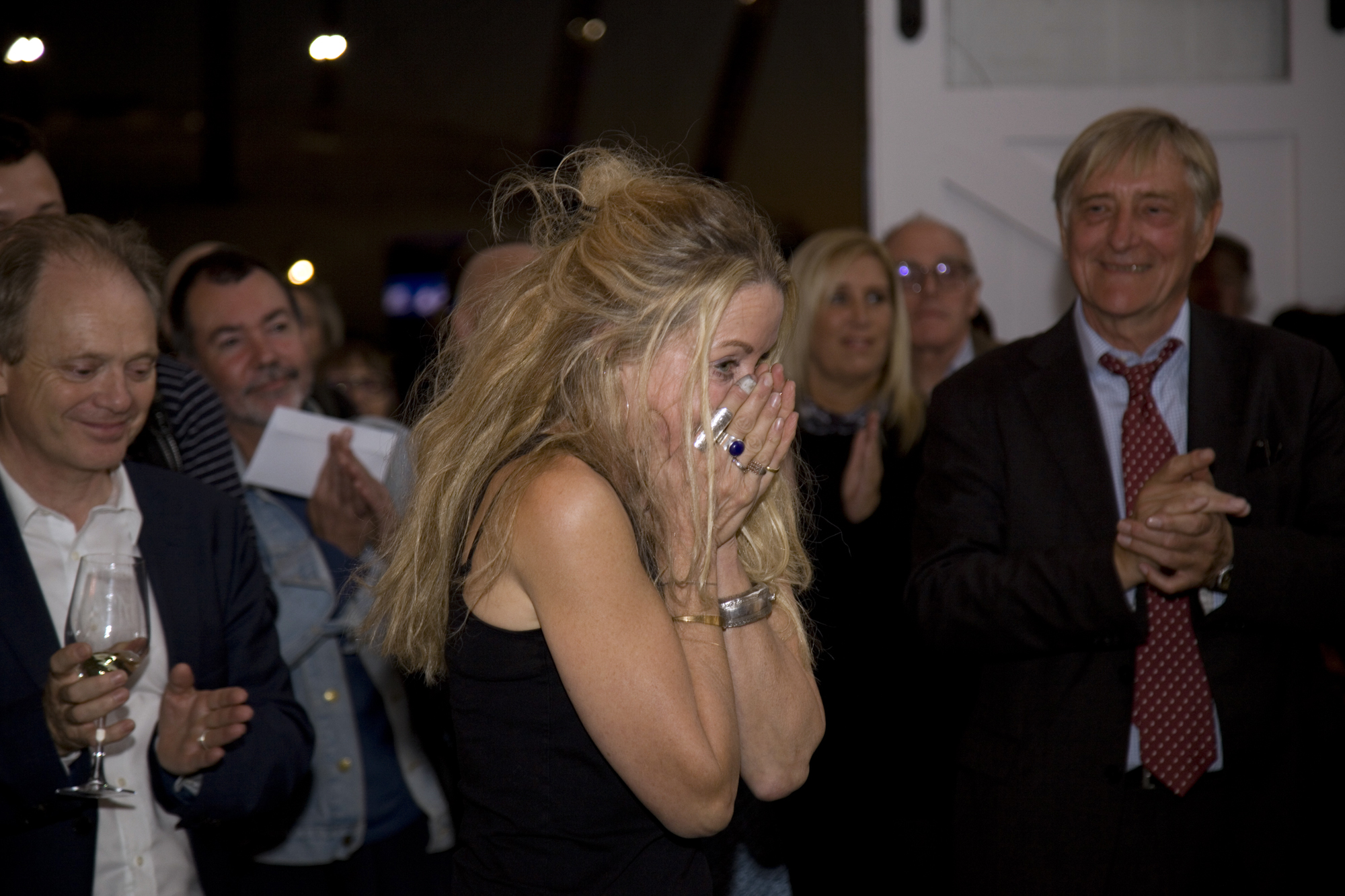 Caroline Burraway the moment it was announced that she had won the Trinity Buoy Wharf Drawing Prize for Eden