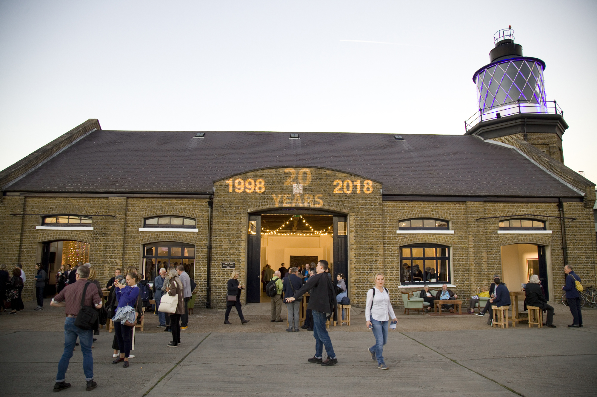 Trinity Buoy Wharf on the night of the Prize Giving, 2018