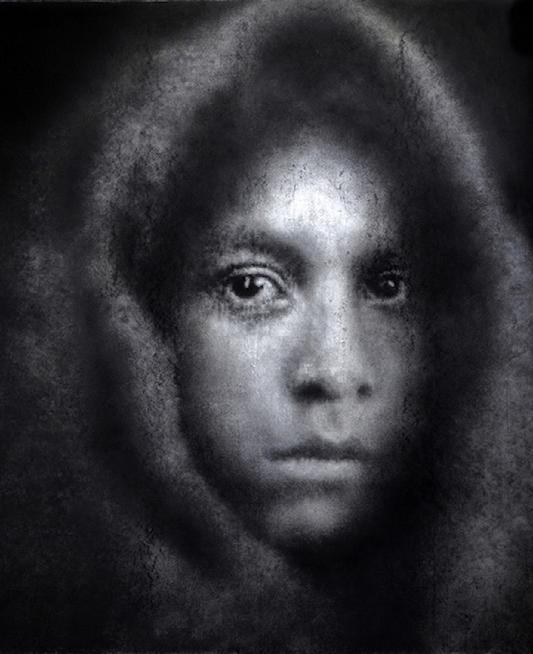 'Native American Girl, 19th Century' Caroline Burraway Charcoal, 150cm x 125cm