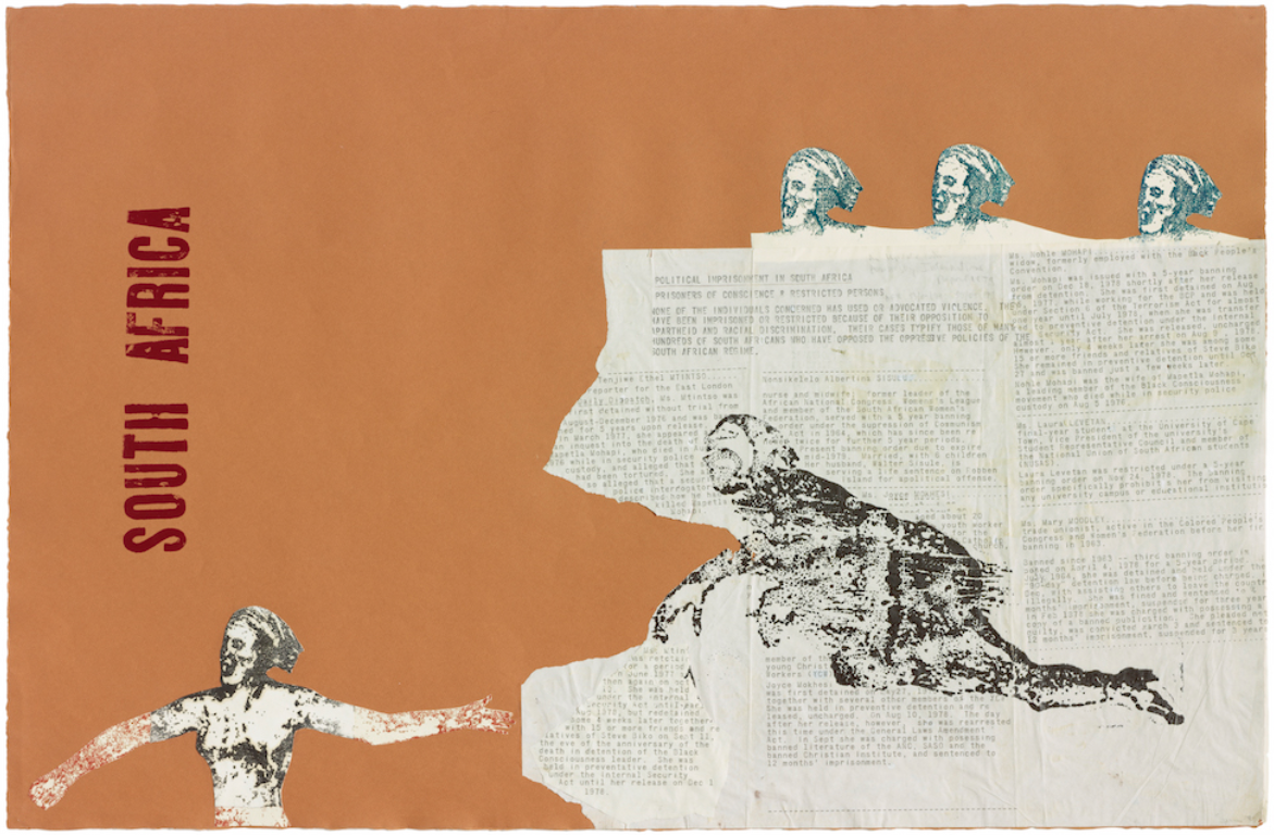Nancy Spero, South Africa, 1981. © The Nancy Spero and Leon Golub Foundation for the Arts/Licensed by VAGA, New York.