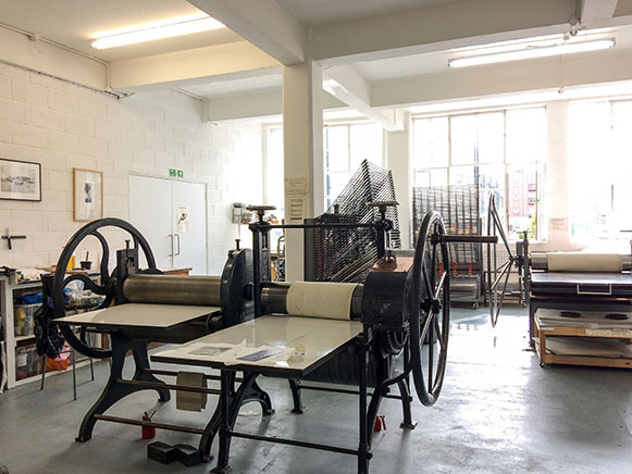 East London printmakers studio