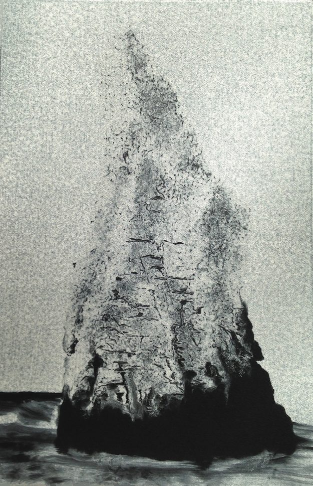 Fiona FouhyWhite Matter ii- Chalk & white ink on Velin Arches. 37.5 x 56.6cm. Mono print (edition 1:1).