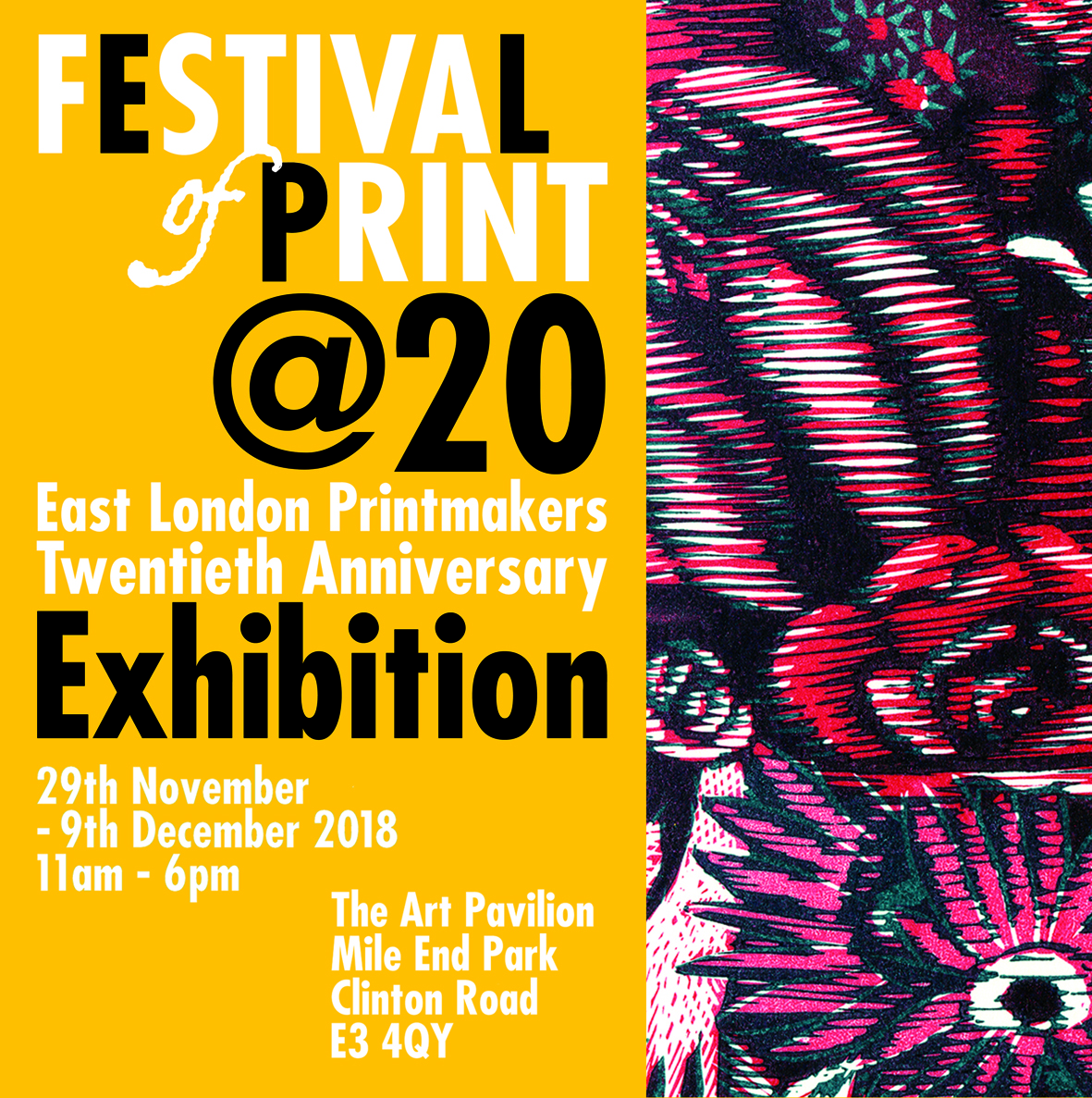 Press Release Image for ELP Festival of Print 2018 Graphics by Paul Munden and Artwork by Wuon-Gean Ho