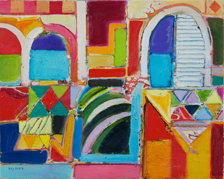 Derek Balmer Beyond Tangier oil on canvas 41 x 51 cm