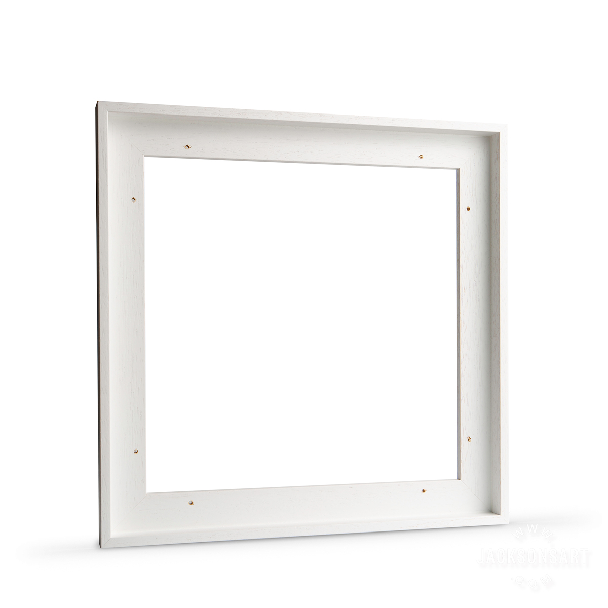Jackson's White Tray Float Frame for Canvas