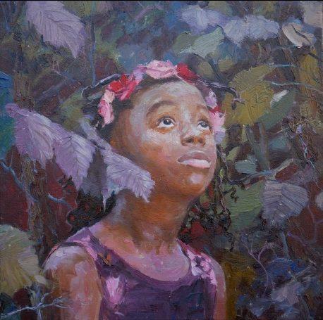 Hope (III), Adebanji Alade VPROI Oil 40 x 40 cm, art exhibitions in December