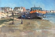 Houseboat Burnham on Crouch - oil on Extra Fine linen panel