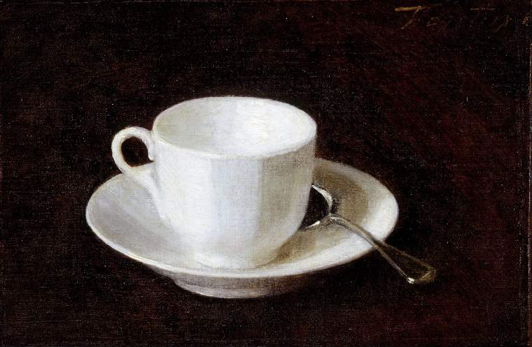Mali's favourite work in the Fitzwilliam- Henri Fantin-Latour, White Cup and Saucer (1864), art exhibitions in December