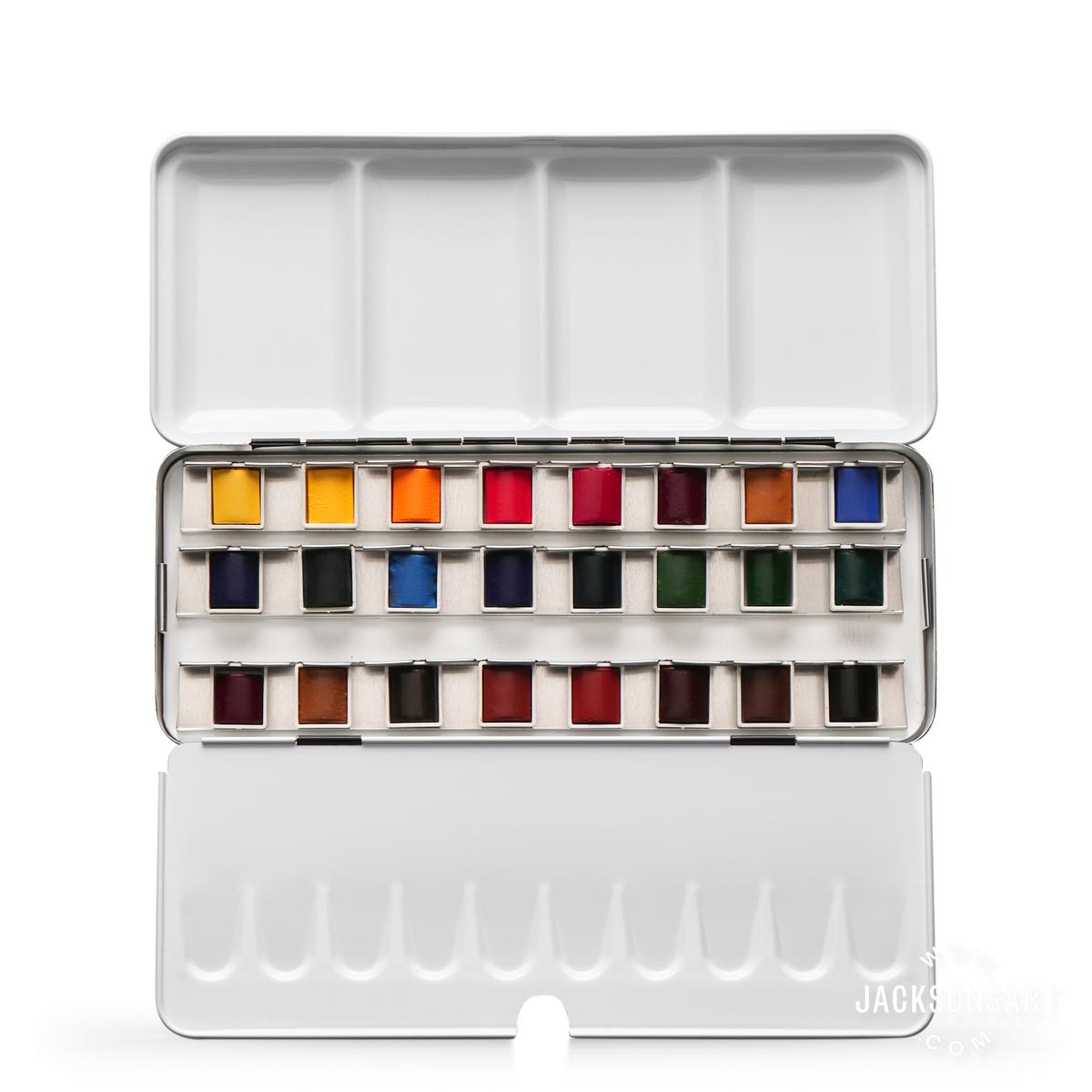 Jackson's Artist Watercolour Paint Half Pan Set of 24