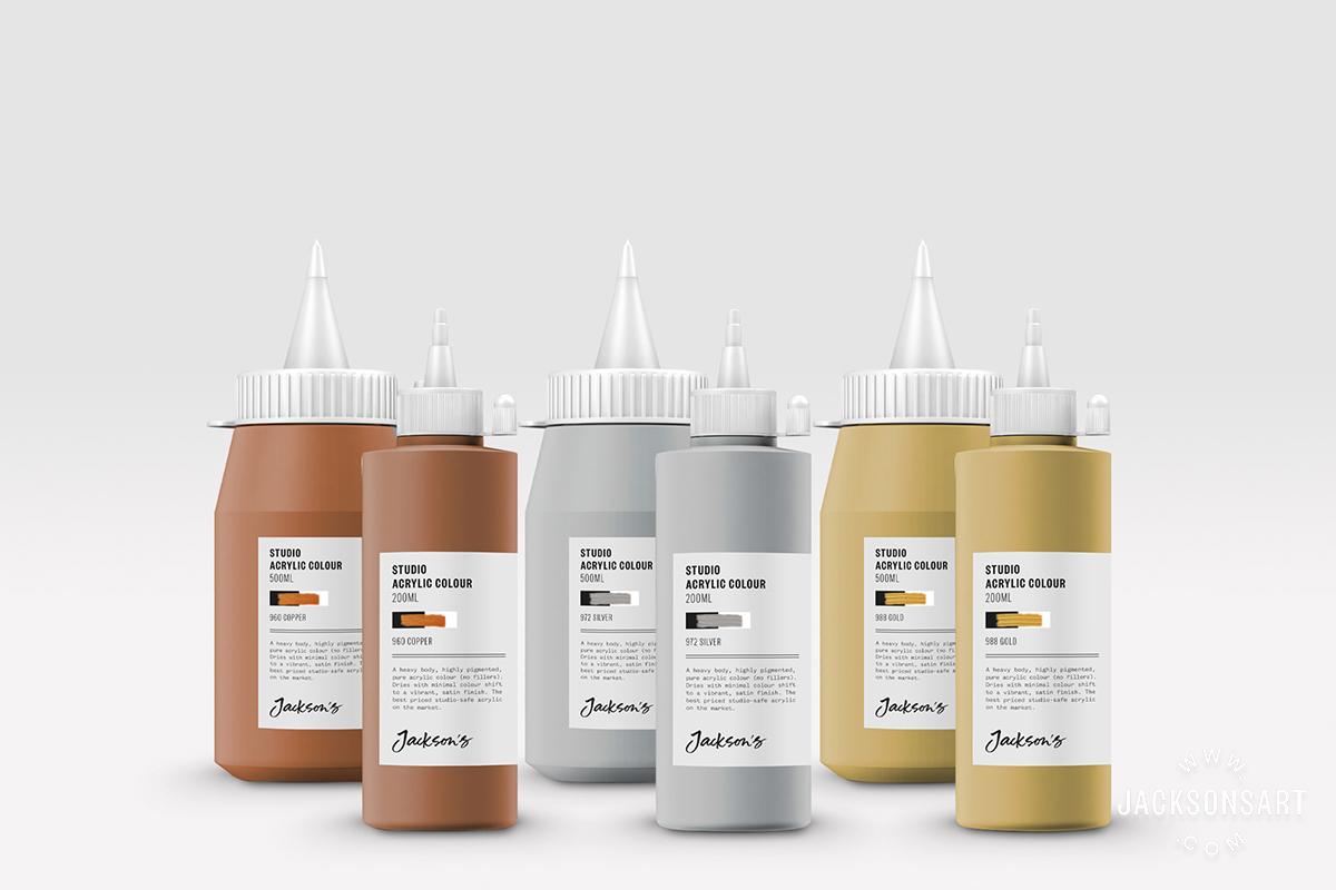 Jackson's New Metallic Studio Acrylic Colours