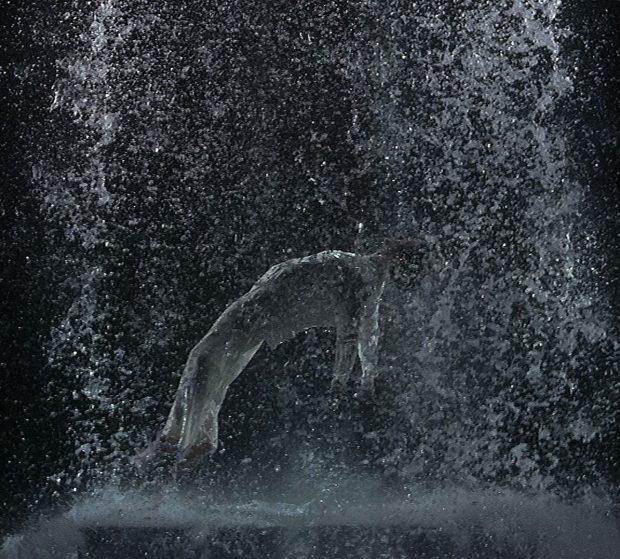 Bill Viola, Tristan's Ascension (The Sound of a Mountain Under a Waterfall), 2005. Video/sound installation. Performer: John Hay. Courtesy Bill Viola Studio. Photo: Kira Perov.