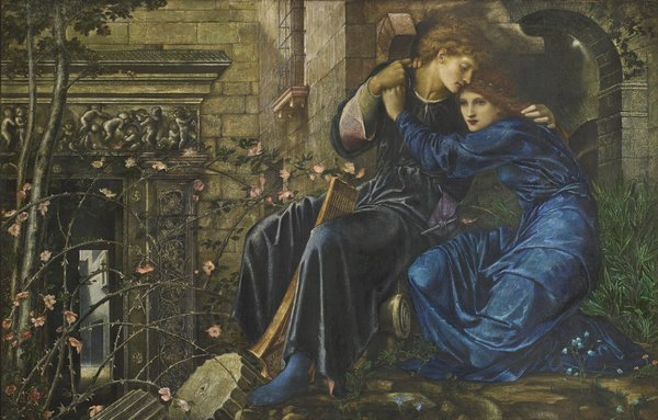 Sir Edward Coley Burne-Jones, Love among the Ruins, 1870-73 Private collection