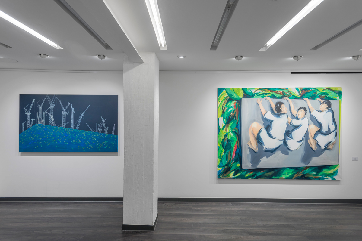 Figurative Now Exhibition at the Daniel Benjamin Gallery, photo by Denzil Guzel