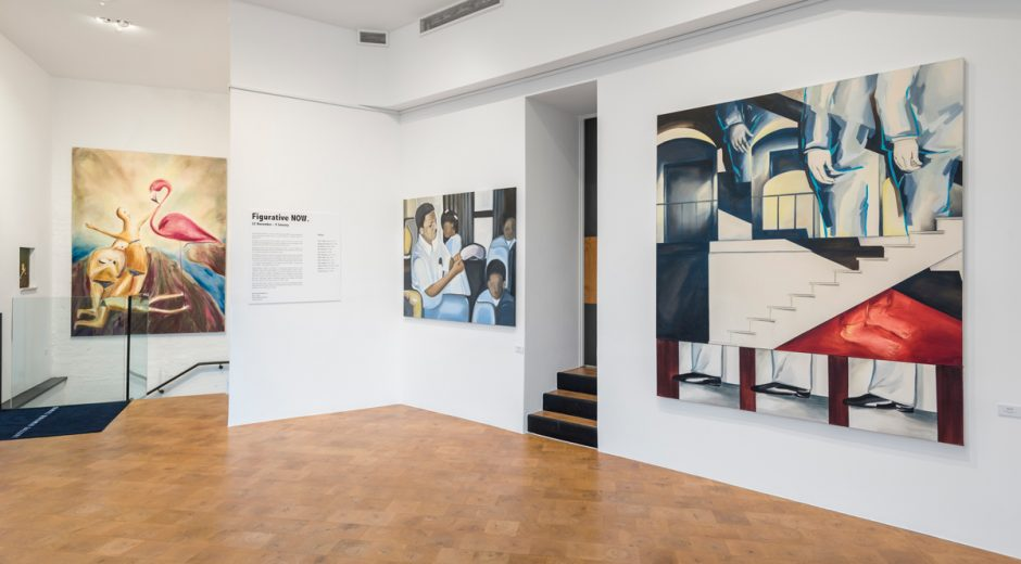 Figurative Now Exhibition at the Daniel Benjamin Gallery, photo by Denzil Guzel