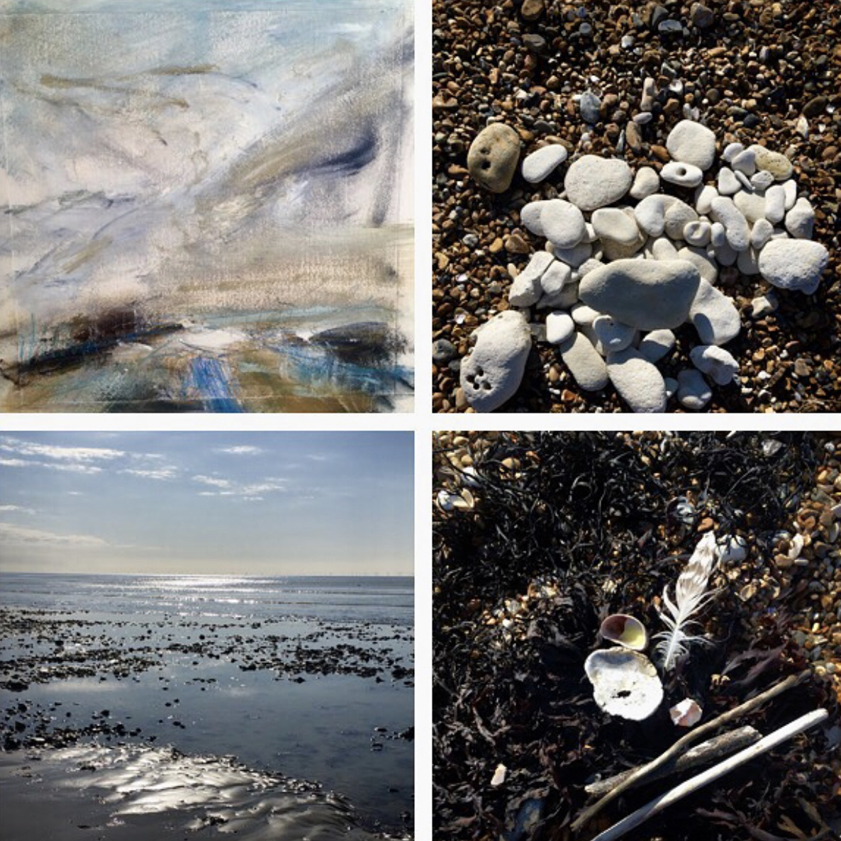 Example of Lucy's 'Place Palette' - a physical snapshot of the environment she is painting.