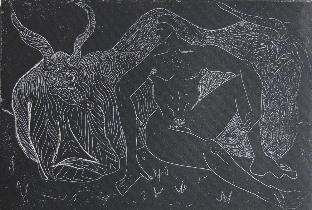 Jack Fawdry-Tatham, Some Turn at Bay, 2018, Relief etching