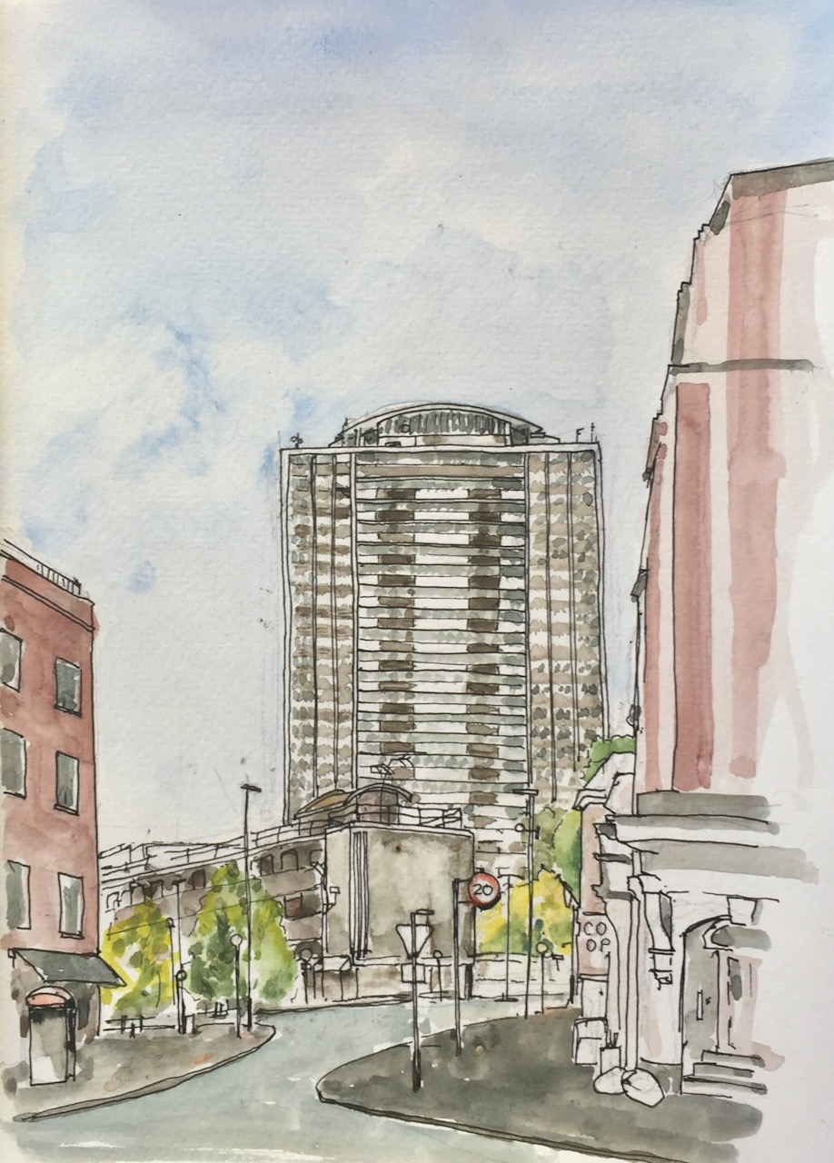 , Jane Northcote: Urban Sketching Towers Project