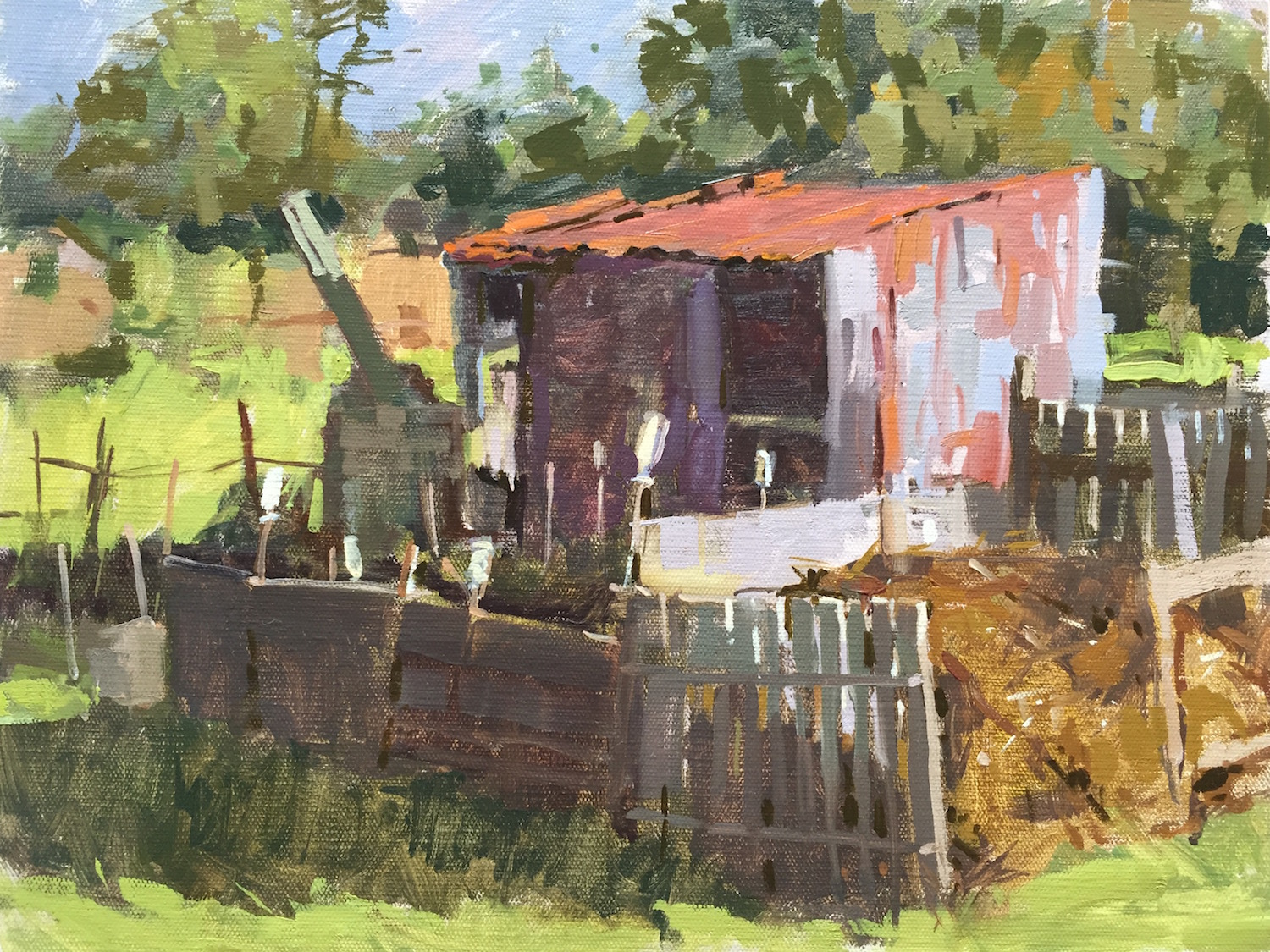 Rusty shed, Holt allotments - Haidee-Jo Summers, Oil on canvas