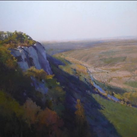 Sophie Amauger, The Plunge, Pastel 80 x 80 cm