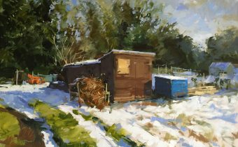 The thaw, Drove allotments - Haidee-Jo Summers - Oil on canvas