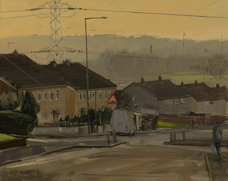 Tom Hughes, Van with pylon in Lockleaze, December – 10 x 8″ artists' goals and plans