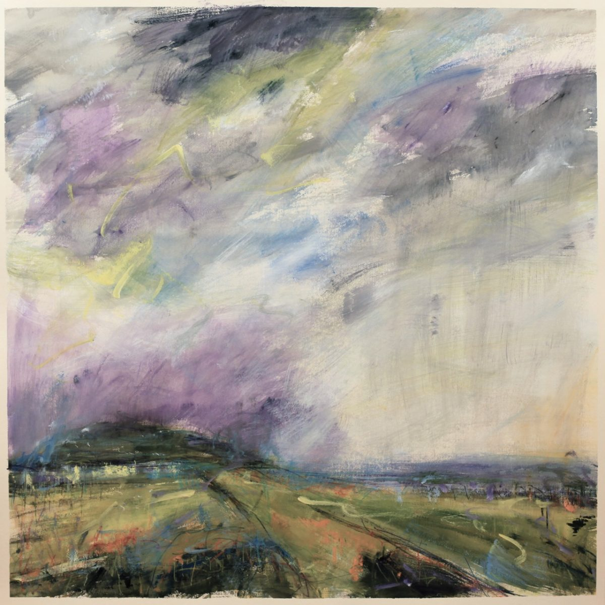 8c40300c5 Where Ancient Hills Breathe, 2018. Lucy Marks Watercolour on St. Cuthbert's  Mill paper, 104 x 104 cm