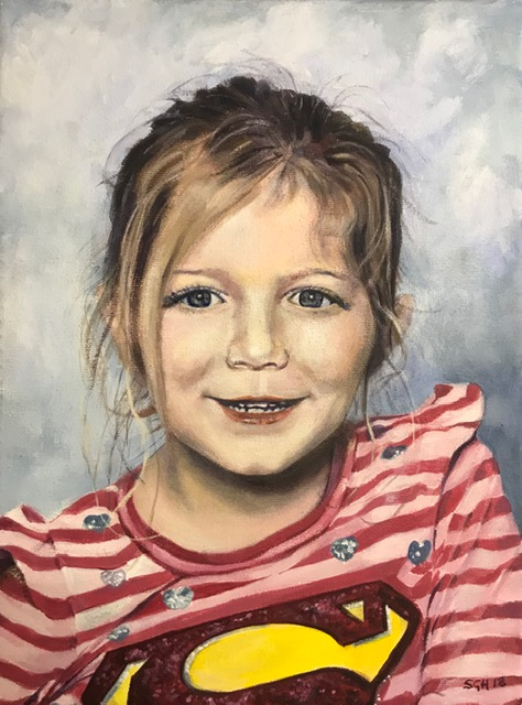 Recent portrait commission, now in New York, as a Christmas present for a client's granddaughter.