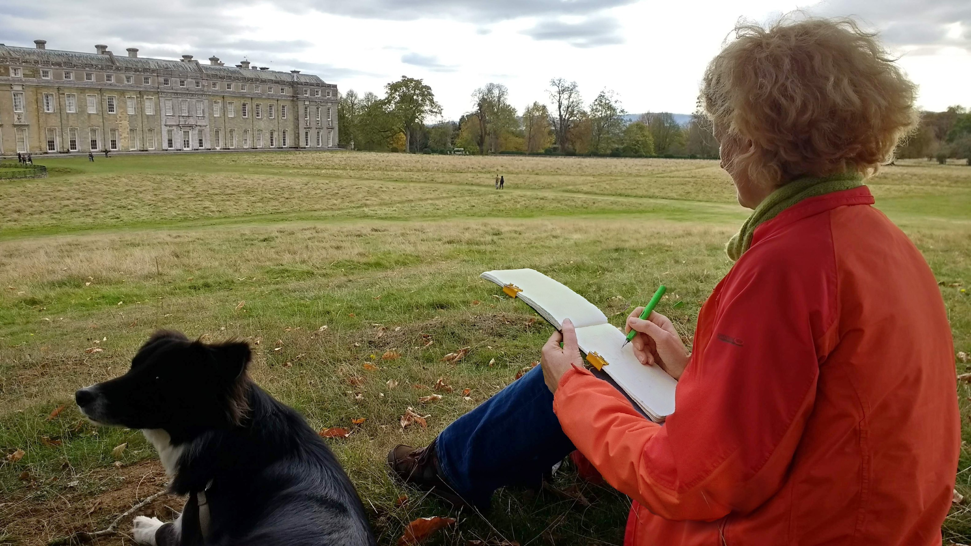 Out and about with a softback Stillman & Birn Sketchbook and an impatient collie.