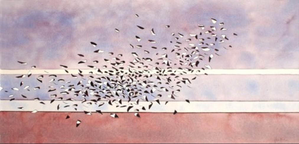 A Winter Flocking Watercolour by John Horton