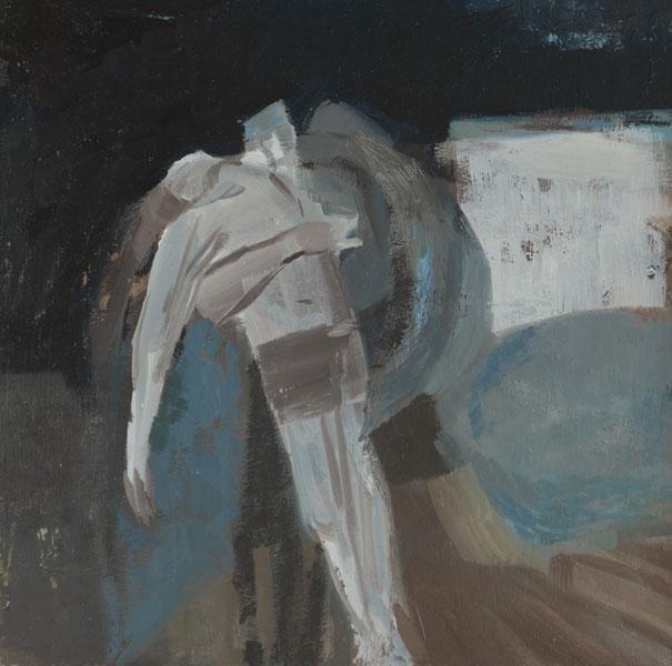 Davina Jackson, The Death of Hector, 2018, Oil on canvas, 30 cm x 30 cm