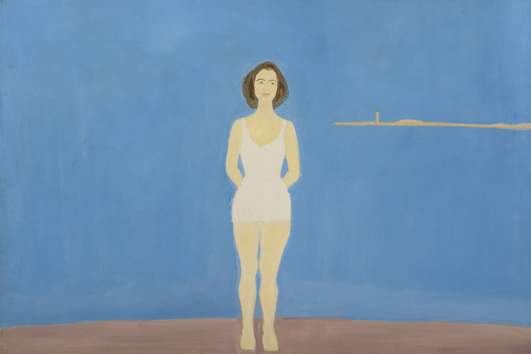 Alex Katz, Bather, 1959, Oil on linen, 48 in x 72 in, Colby College Museum of Art