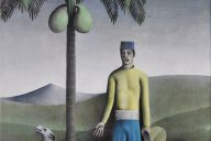 Coconut Man James Mortimer Oil on canvas, 10 in x 14 in