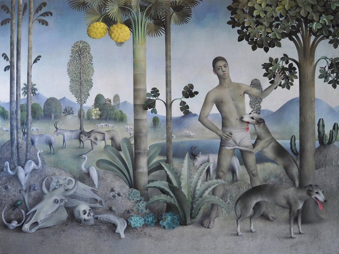 Goat Landscape James Mortimer Oil on Canvas, 6ft x 8ft