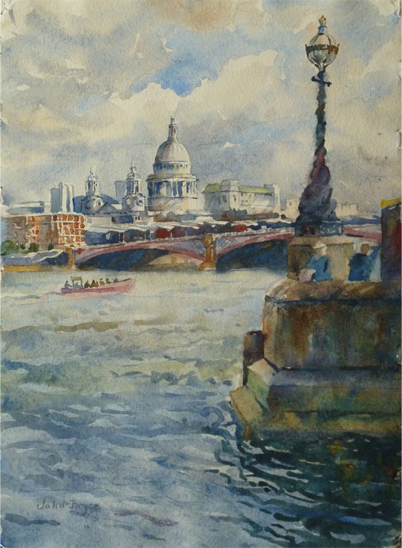 John Bryce RE, SWE Blackfriars and St Pauls (From The Wapping Group of Artists 71st Annual Exhibition Spring 2017)