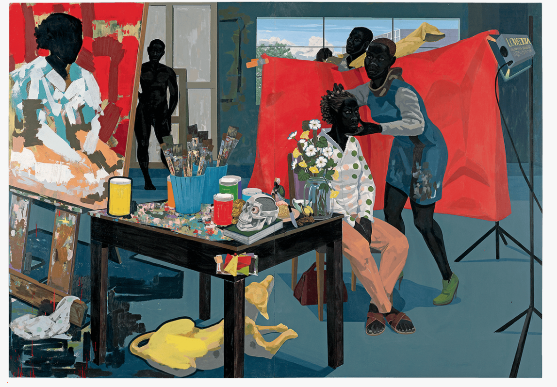 Kerry James Marshall, 'Untitled (Studio),' 2014, acrylic on PVC panels, 83-5:16 × 119-1:4 in. PHOTO: METROPOLITAN MUSEUM OF ART